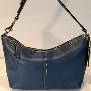 Coach Blue Leather Hobo Shoulder Bag